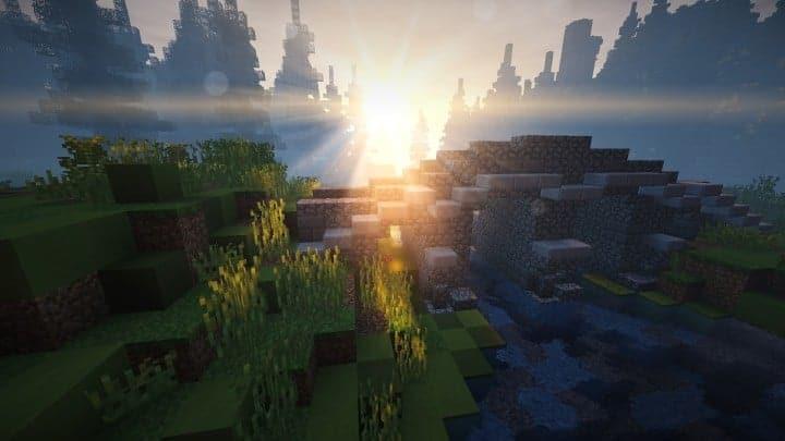 Verlassene mittelalterliche Burg Minecraft Gebäude Blaupausen Download Fluss 9