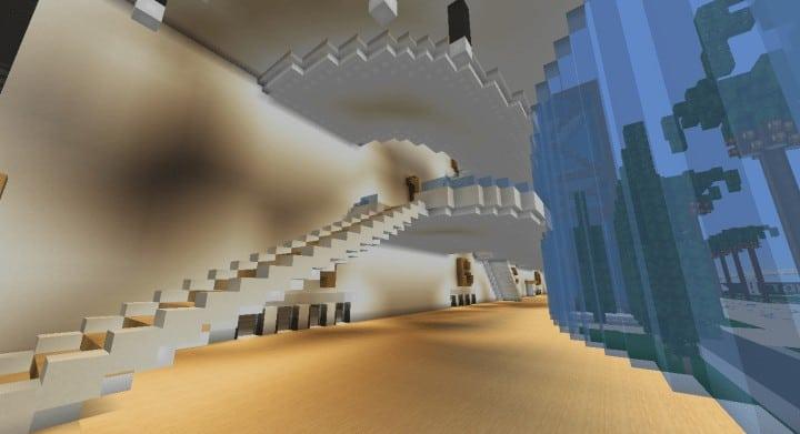 Alleron Convention Center Alleron City Minecraft Gebäude Ideen erstaunliche Büro Stadt Glas Phantasie 8