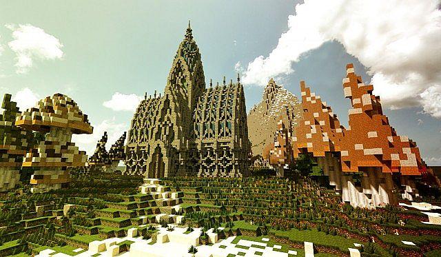 Mushroom Island Kathedrale | Benutzerdefiniertes Gelände