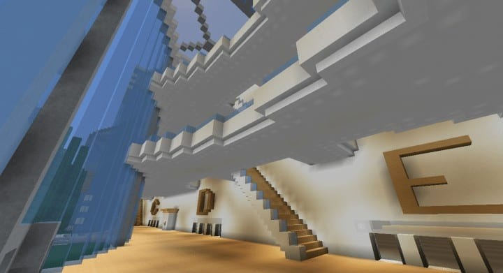 Alleron Convention Center Alleron City Minecraft Gebäude Ideen erstaunliche Büro Stadt Glas Phantasie 9