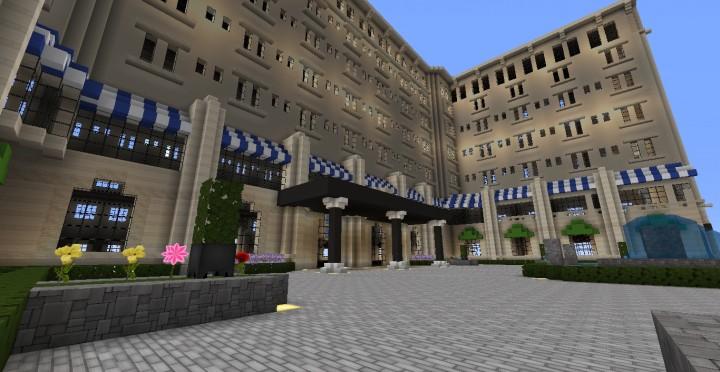 Das Grand Peninsula Hotel 1920er Jahre Minecraft Gebäude Download speichern 2
