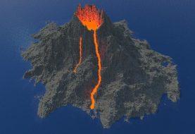 Realistischer Vulkan
