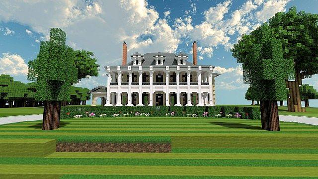 Plantation Mansion Minecraft Gebäude Geschichte Ideen Haus
