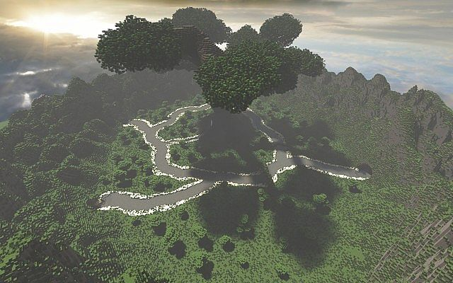 Mystischer Baum   Benutzerdefiniertes Gelände + Großer benutzerdefinierter Baum