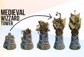 Mittelalterlicher Fantasy - Magierturm | Baue Stufen