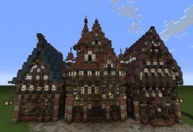 Drei merowische Häuser