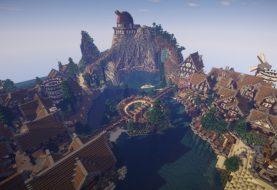 Großes mittelalterliches Dorf oder Stadt