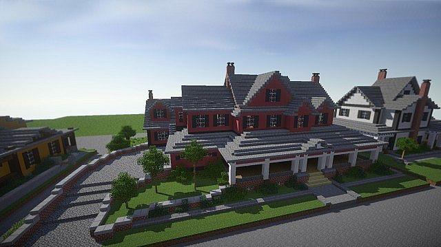 Rote alte Villa